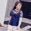 เสื้อยืดซีทรู 2 ชิ้น สีน้ำเงิน แขนสั้น (XL,2XL,3XL,4XL,5XL)