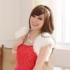 เสื้อคลุมไหล่ไซส์ใหญ่ สีแดง/สีขาว (XL,2XL,3XL) JK-9361