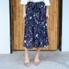 กางเกงขายาว ผ้าฮานาโกะ สีน้ำเงินพิมพ์ลาย (XL,2XL,3XL,4XL) ZX-0710