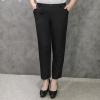 กางเกงขายาวไซส์ใหญ่ รูดซิป ติดกระดุม สีดำ (33,34,36,37,38,40,42) TX-79
