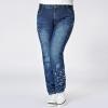 กางเกงยีนส์ไซส์ใหญ่ ขายาว พิมพ์ดาวปลายขา (L,XL,2XL,3XL,4XL) code 19019