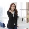 เสื้อสูทสไตล์เกาหลี ปกเทเลอร์ สีส้ม/สีดำ (XL,2XL,3XL) JK-9521