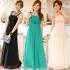 ชุดราตรีชีฟองยาว สีดำ/สีเขียว/สีชมพู (XL,2XL,3XL) JK-9601