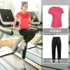 ชุดออกกำลังกาย เซ็ท 2 ชิ้น เสื้อยืดแขนสั้น+กางเกงขายาว สีดำ/สีน้ำเงิน/สีแดง/สีฟ้า (L,XL,2XL,3XL,4XL) ZY8295