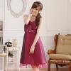 ชุดเพื่อนเจ้าสาวสีม่วงแดงไซส์ใหญ่ (XL,2XL,3XL) JK~9105
