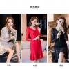 เดรสผ้าลูกไม้ออกงานไซส์ใหญ่ ชุดสวยสุดหรู ชายกระโปรงหางปลาสีแดง/สีขาว/สีดำ (S,M,L,XL,2XL,3XL,4XL) F98660