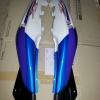 ฝาข้าง KR150-ZX สีน้ำเงิน/ขาว แท้ศูนย์