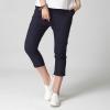 กางเกงขาสี่ส่วน สีกรมท่า เอวยืด มีกระเป๋า (2XL,3XL,4XL,5XL) C-8503