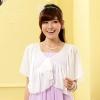 เสื้อคลุมไหล่ชีฟองน่ารัก สีขาว/สีดำ/สีม่วง (XL,2XL,3XL) JK-9611