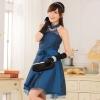 ชุดเพื่อนเจ้าสาวไซส์ใหญ่ผ้าลูกไม้ สีน้ำเงิน (XL,2XL,3XL) JK-9114