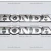 โลโก้ HONDA สีเงิน 16cm.x2.5cm. (2ชิ้น/ชุด)