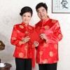 เสื้อจีนชาย-หญิงพิมพ์ลายคลาสสิก สีแดง (XL,2XL,3XL) MJ0001