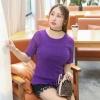 เสื้อยืดสีม่วง แขนสั้น (XL,2XL,3XL)