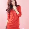 เสื้อยืดคอวีแขนยาว สีส้ม (2XL)