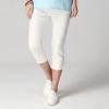 กางเกงขาสี่ส่วน สีขาว เอวยืด มีกระเป๋า (2XL,3XL,4XL,5XL) A-8503