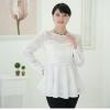 เสื้อชีฟองไซส์ใหญ่สีขาว ติดไข่มุกสวยหรู (L,XL,2XL,4XL,5XL) B-98406