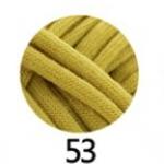 ไหมผ้ายืด (T-Shirt) เกรด A รหัสสี 53 สีเหลืองมัสตาล