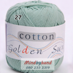 ไหมพรม Cotton 100% รหัสสี 27 Dark Green