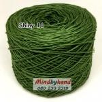 ไหม Cotton Shiny รหัสสี 11 สีเขียวใบตอง