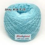 ไหม Shiny #18 รหัสสี 25 สีฟ้าใส