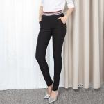 ♥พร้อมส่ง♥ กางเกงขายาวไซส์ใหญ่ ทรงดินสอ เอวยางยืด สีดำ (6XL) เอว 34 ยืด 40