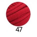 ไหมผ้ายืด (T-Shirt) เกรด A รหัสสี 47 สีแดงเข้ม