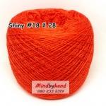 ไหม Shiny #18 รหัสสี 28 สีส้มสด