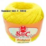 ด้ายถัก Summer S&C สีพื้น รหัส 5032