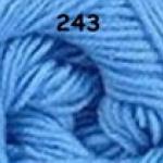 ไหมพรมดาหลา สีพื้น สี 243