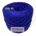 ไหม Cotton Shiny รหัสสี 38 สีน้ำเงิน