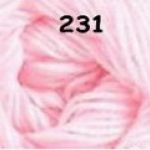 ไหมพรมดาหลา สีพื้น สี 231