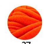 ไหมผ้ายืด (T-Shirt) เกรด A รหัสสี 37 สีส้มสด