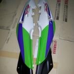 ฝาข้าง KR150-ZX สีเขียว/ขาว แท้ศูนย์