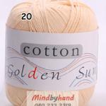 ไหมพรม Cotton 100% รหัสสี 20 Meat Yellow