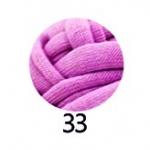 ไหมผ้ายืด (T-Shirt) เกรด A รหัสสี 33 สีชมพูกลีบบัว