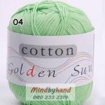 ไหมพรม Cotton 100% รหัสสี 04 Green