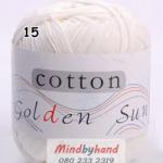 ไหมพรม Cotton 100% รหัสสี 15 Milky
