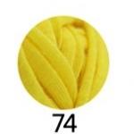 ไหมผ้ายืด (T-Shirt) เกรด A รหัสสี 74 สีเหลือง