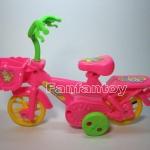 จักรยานเชือกดึง สีชมพู