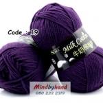 ไหมพรม Milk Cotton รหัสสี 19 Purple
