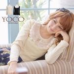 ♡♡pre-order♡♡ เสื้อผ้าน่ารักๆ ผ้าลูกไม้หวานๆ แนวคุณหนูแขนยาว แต่งผ้าลูกไม้สีขาวช่วงคอ