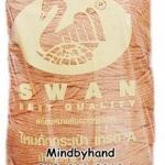 เชือกร่มดิ้นทอง ตราหงส์ สวอน (ตราหงส์) 316 สีส้มอ่อน