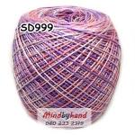 ไหมพรมเส้นอ้วน สีเหลือบ SD999
