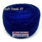 ไหมซอฟท์ทัช (Soft Touch) สี 17 สีน้ำเงิน