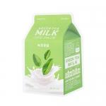 พร้อมส่ง Apieu GREEN TEA MILK ONE-PACK [어퓨] 녹차 우유 한 팩 800 원won