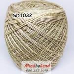 ไหมพรมเส้นอ้วน สีเหลือบ SD1032