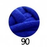 ไหมผ้ายืด (T-Shirt) เกรด A รหัสสี 90 สีน้ำเงิน (น้ำเงินธงชาติ)
