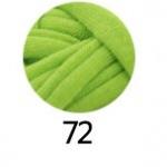 ไหมผ้ายืด (T-Shirt) เกรด A รหัสสี 72 สีเขียวมะนาว