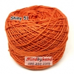 ไหม Cotton Shiny รหัสสี 51 สีส้มอิฐ