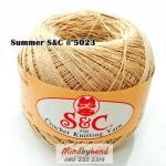 ด้ายถัก Summer S&C สีพื้น รหัส 5023
